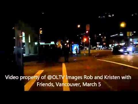 Robert e Kristen vistos em Vancouver
