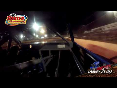 #69 Timmy Kimsey - Stock 8 - 9-18-21 Sumter Speedway - In-Car Camera - dirt track racing video image