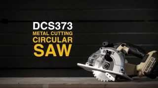 Akuketassaag metallile DeWalt DCS373N - ilma aku ja laadijata