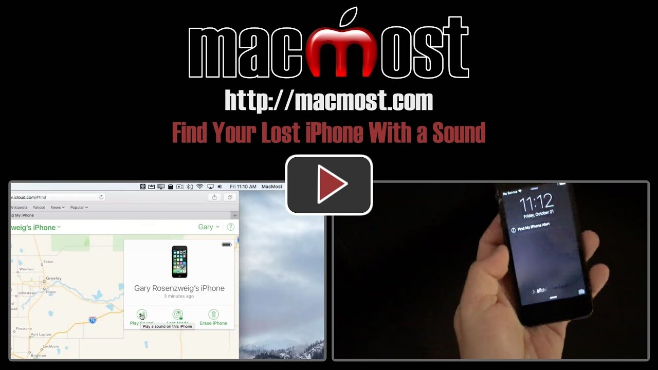 find my lost iphone find your lost iphone with a sound macmost 8929