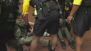 2 more handcuffed in Portland protests