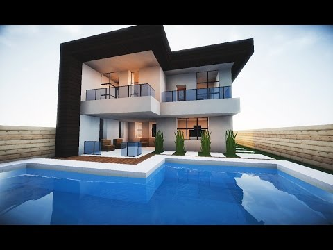 Youtube minecraft tutorial pequena casa moderna 202 for Tutorial casa moderna grande minecraft