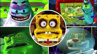 SpongeBob Battle for Bikini Bottom ALL BOSSES (PS2)