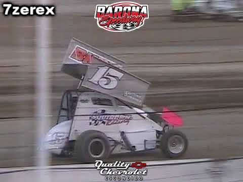 California Lighting Sprints first time back in ten years and caution free race. - dirt track racing video image