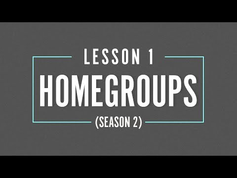 HOME GROUP Season 2 - LESSON 1 - Tithing