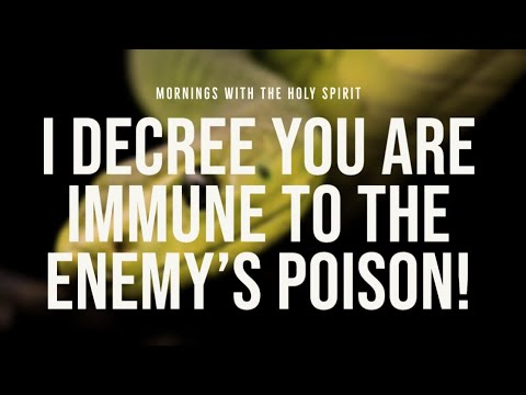 I Decree You Are Immune to the Enemy's Poison (Prophetic Prayer & Prophecy)
