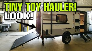 Smallest 18ft TOY HAULER Travel Trailer RV! MUST SEE!