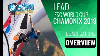 IFSC Climbing World Cup Chamonix 2019 - Lead - Qualifications Overview