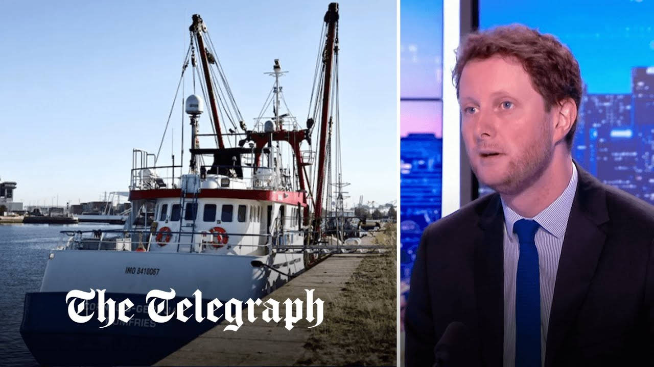 French Minister says Britain only understands 'force' after British fishing boat detained