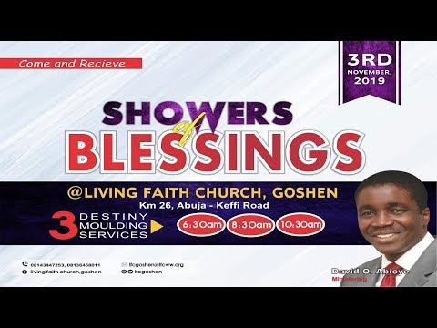 SHOWERS OF BLESSINGS 1ST SERVICE NOVEMBER 03, 2019