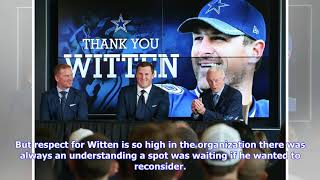 Never say never: A return to the Cowboys couldn't pull Jason Witten from the MNF booth, but there...