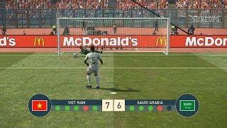 VIETNAM vs ARAP SAUDI - PENALTY SHOOTOUT - AFC Asian CUP - PES19