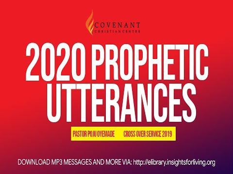 COVENANT CHRISTIAN CENTRE YEAR 2020 PROPHETIC UTTERANCES