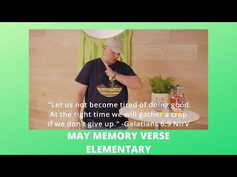 May Memory Verse  Elementary