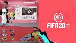 FIFA 20 - MENUS GAMEPLAY + NEW PLAYER FACES