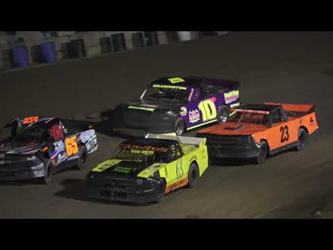 Pro Truck A-Feature at Crystal Motor Speedway, Michigan on 06-19-2021!! - dirt track racing video image