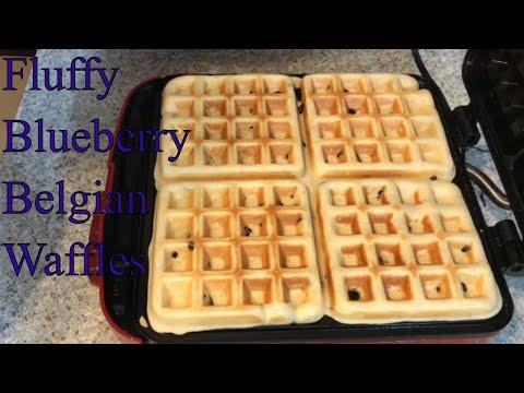 Belgian Waffles with Blueberries Recipe Homemade - HOW TO MAKE THE FLUFFY BELGIAN WAFFLES - UCxWFay423FbCZ6-ot758-NA