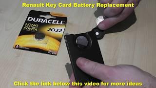Sostituzione pila chiave Renault Scenic 3