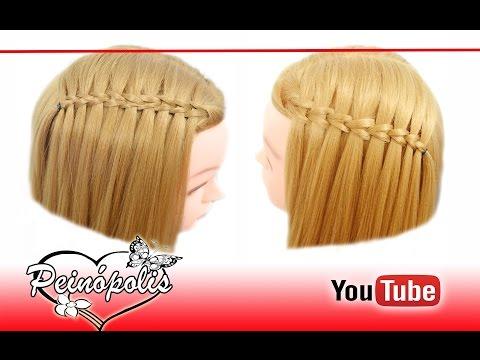 Youtube Trenzas Cascada Peinados Faciles Y Rapidos Para Cabello