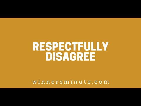 Respectfully Disagree // The Winner's Minute With Mac Hammond