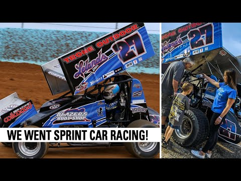 First EVER Sprint Car Race At Action Track USA - dirt track racing video image