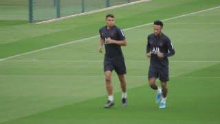 Neymar s'entraîne avec le PSG à la veille du match contre Rennes   AFP News