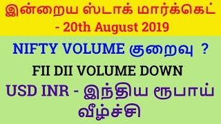 NIFTY VOLUME குறைவு  ? | USD INR - இந்திய ரூபாய் வீழ்ச்சி  Tamil Share | Intraday Tamil Tips
