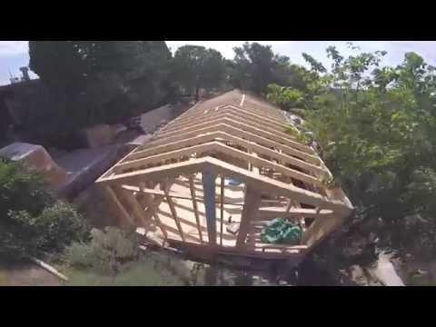 Wood Studio House construction process