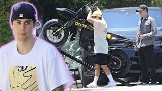 Justin Bieber's Custom Drew House Motocross Bike Gets A Quick Test Ride