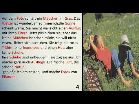 كيفية وصف اي صورة في امتحان B1 B2 -  ستة مواضيع مهمة - تعلم اللغة الالمانية
