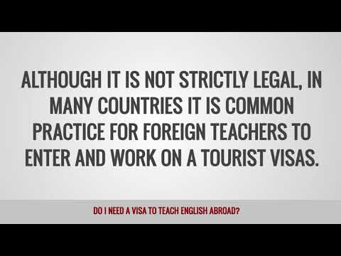 video on whether you need a work visa to TEFL teach abroad or not