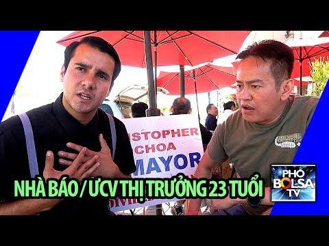 Nhà báo trẻ Mỹ, tranh cử chức thị trưởng thành phố đông dân gốc Việt