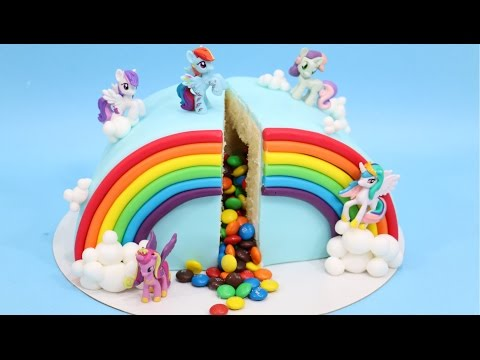How to make M&M PIÑATA Rainbow My Little Pony Cake by CakesStepbyStep - UCjA7GKp_yxbtw896DCpLHmQ