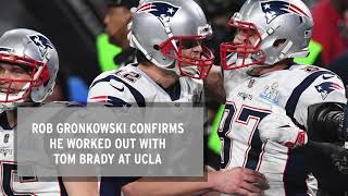 Rob Gronkowski Works Out WIth Tom Brady in LA