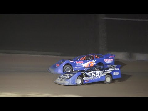 Late Model A-Feature at Crystal Motor Speedway, Michigan on 08-07-2021!! - dirt track racing video image