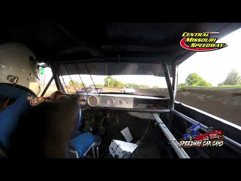 #75 Brady Tanner - Pure Stock - 6-19-2021 Central Missouri Speedway - In Car Camera - dirt track racing video image