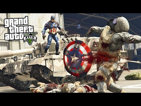 GTA 5 PLAY AS A COP MOD - CAPTAIN AMERICA!! Captain America Police