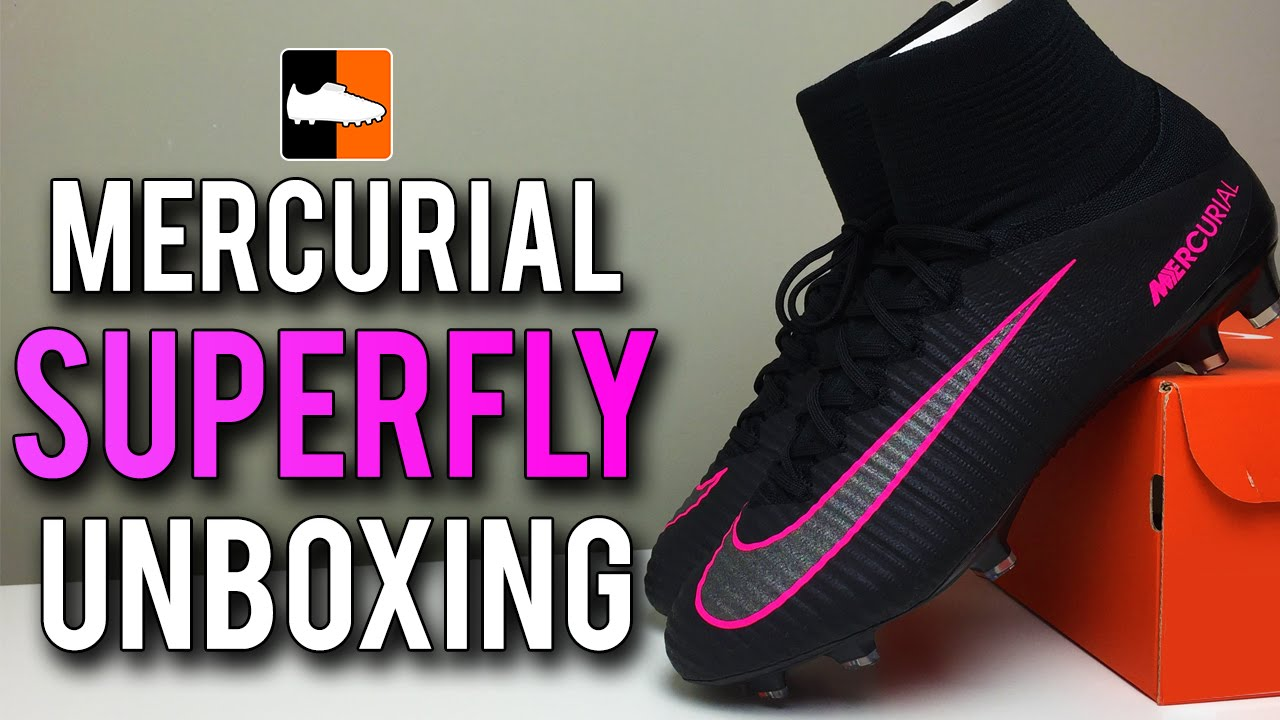 check out 953fb db35a ... shopping pitch dark superfly v unboxing nike black mercurial football  boots f sport.lt 92f0e