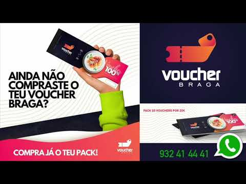 Voucher Braga - 1º COMPRA e a 2º DE BORLA(OFERTA)