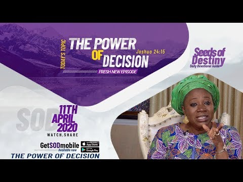 Dr Becky Paul-Enenche - SEEDS OF DESTINY  SATURDAY APRIL 11, 2020.