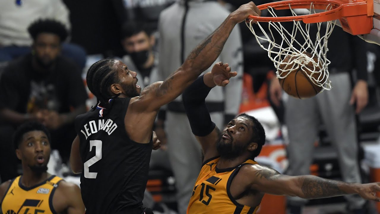 Kawhi POSTERIZES Jazz With MONSTER DUNK! 😲
