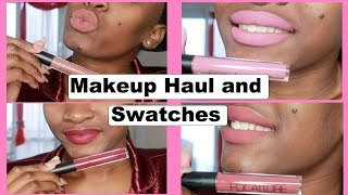 Makeup Haul and Focallure Lipstick Swatches