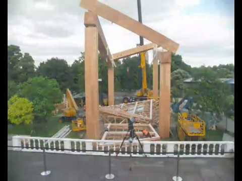 Timelapse video of the construction of the Pavilion