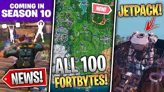 Robot Jetpack, STW Emotes, All 100 Fortbytes, 9.40 Fixes, Cattus Found AGAIN!- Fortnite News