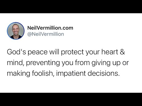 Observe And Appreciate The Peace Offered To You - Daily Prophetic Word