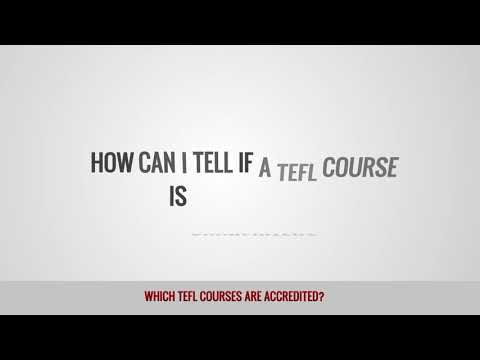 video on what TEFL courses are accredited