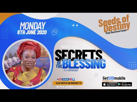 Dr Becky Paul-Enenche - SEEDS OF DESTINY  MONDAY JUNE 8, 2020