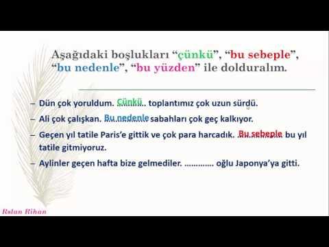 تعلم اللغة التركية (الدرس 6 من المستوى الثاني A2) (الروابط ile , Bağlaçlar)