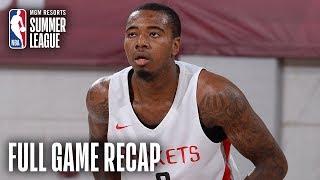 KINGS vs ROCKETS | Houston Edges Out Sacramento | MGM Resorts NBA Summer League