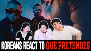 Koreans in their 30s React To QUE PRETENDES by J Balvin and Bad Bunny